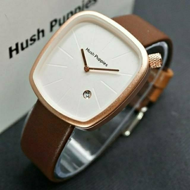 Jam Tangan Wanita.Hush.Puppies Square Shaped - Women Watches - coklat-kotak