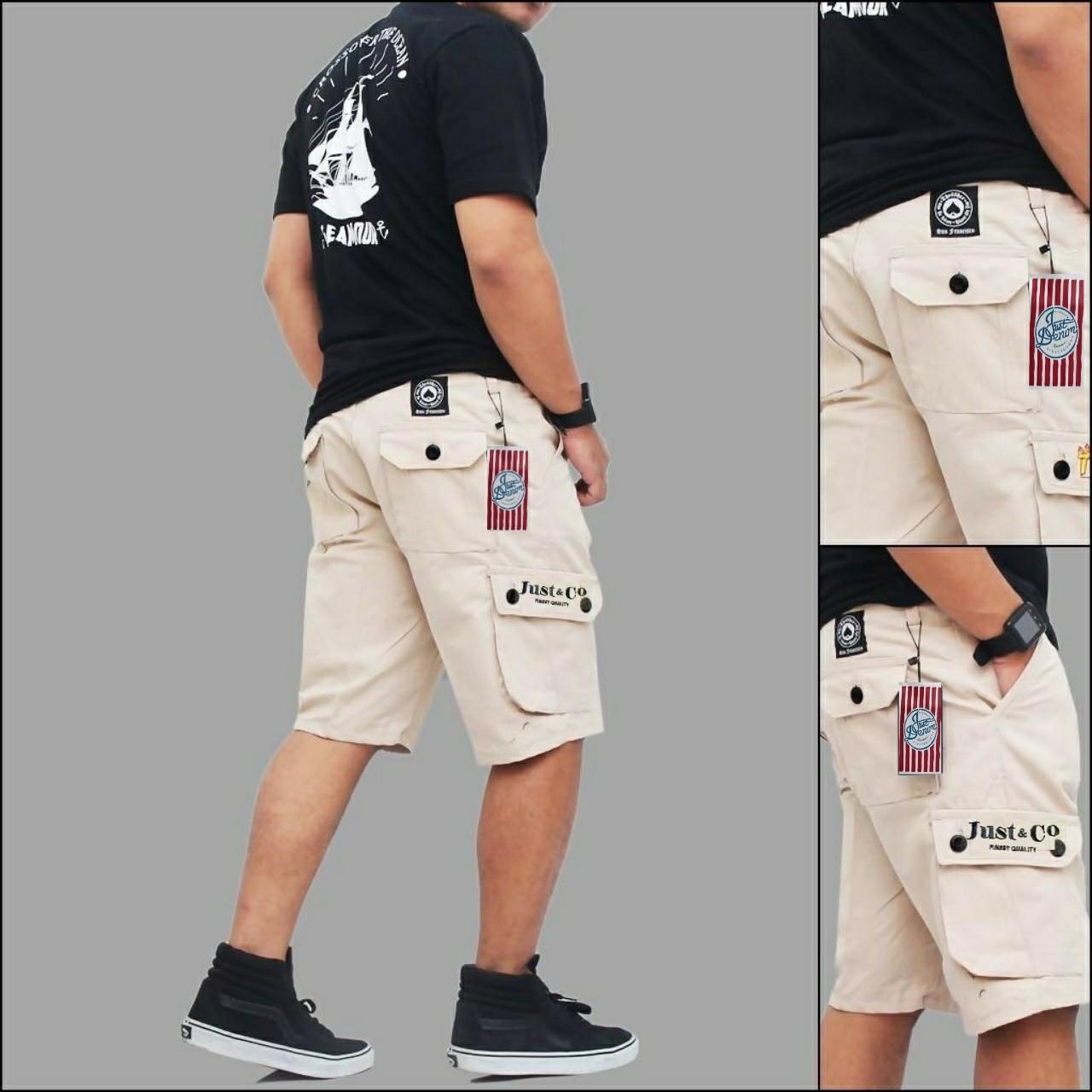 Harga Jual Celana Pendek Cargo Pria Fashion Kargo