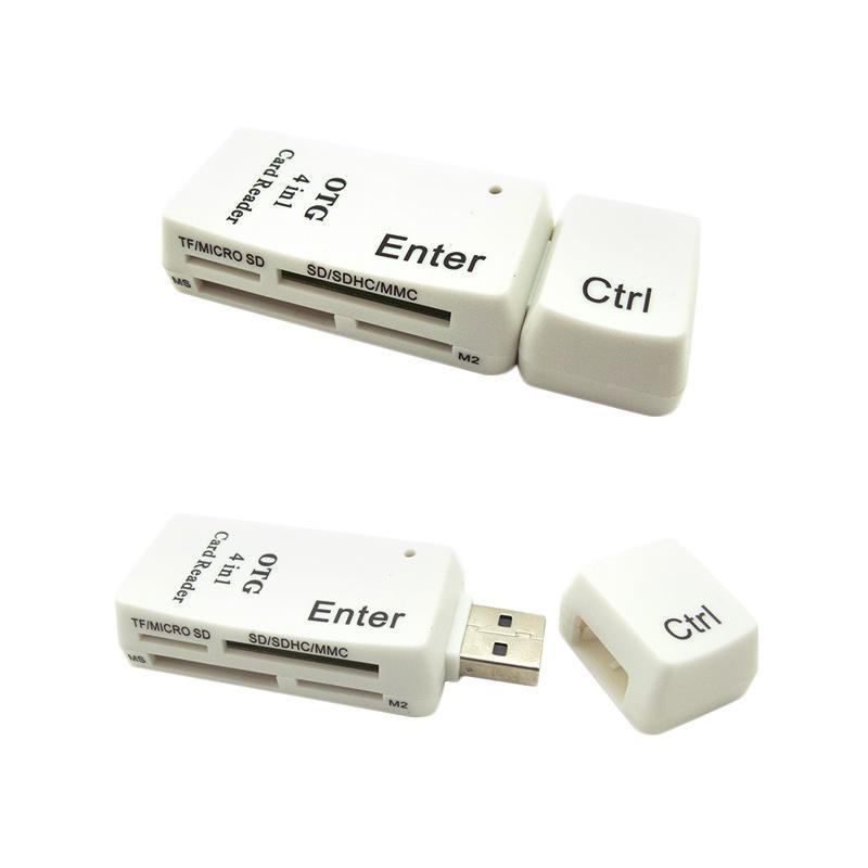 OTG Smart Card Reader 4in1 Model Ctrl Enter Untuk HP Dan PC
