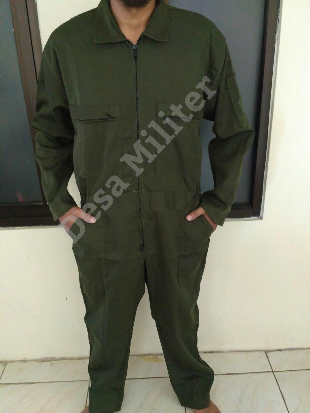 Wearpack Hijau Army - Katelpak - Overall - Seragam Safety - Seragam Bengkel - Baju Proyek - Kemeja Safety
