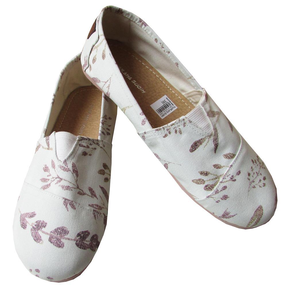 Flat Shoes Wakai Motif Daun Size 37-40