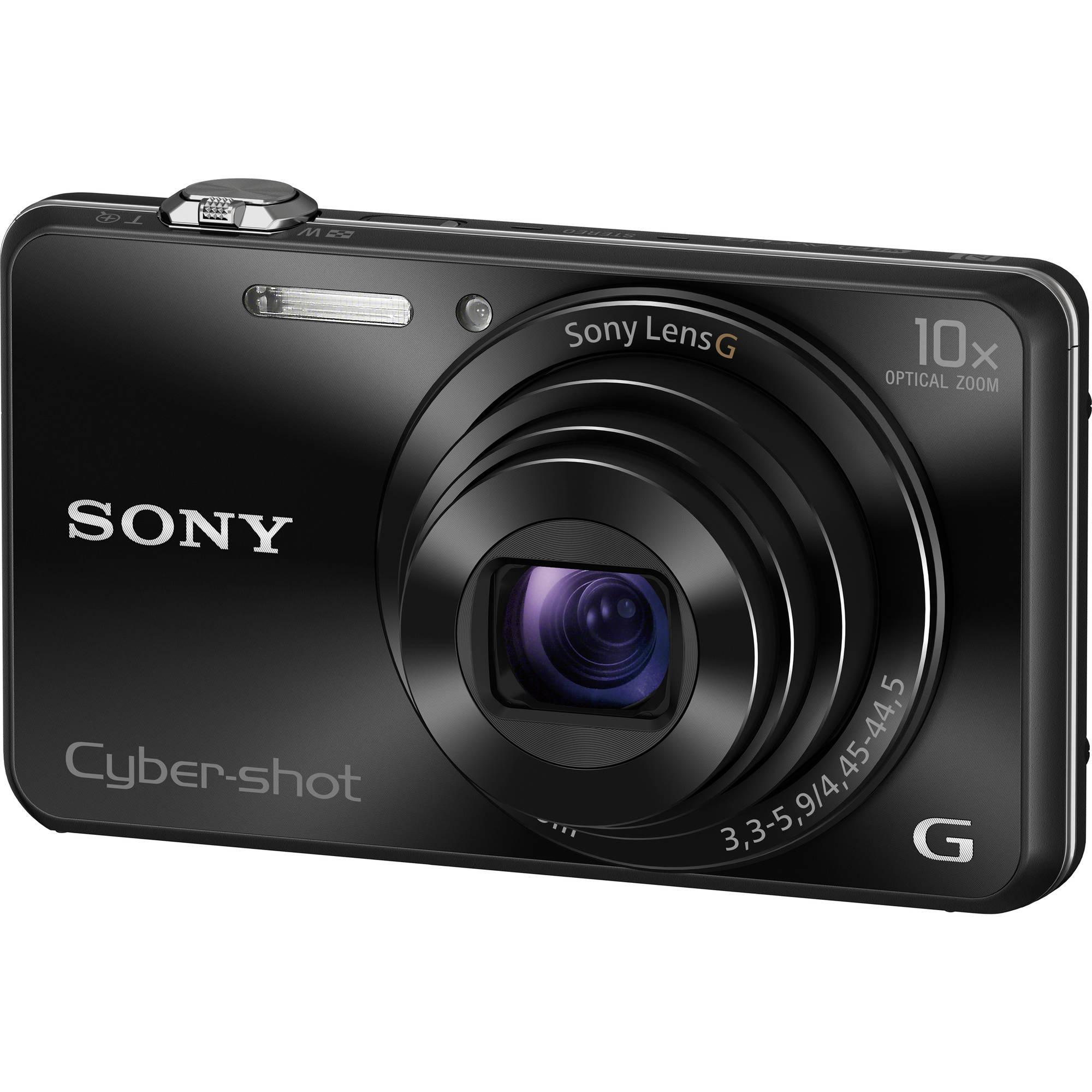 Sony Kamera WX220 dengan 10X Optikal Zoom DSC-WX220 warna Hitam Garansi resmi 1 tahun Sony Indonesia