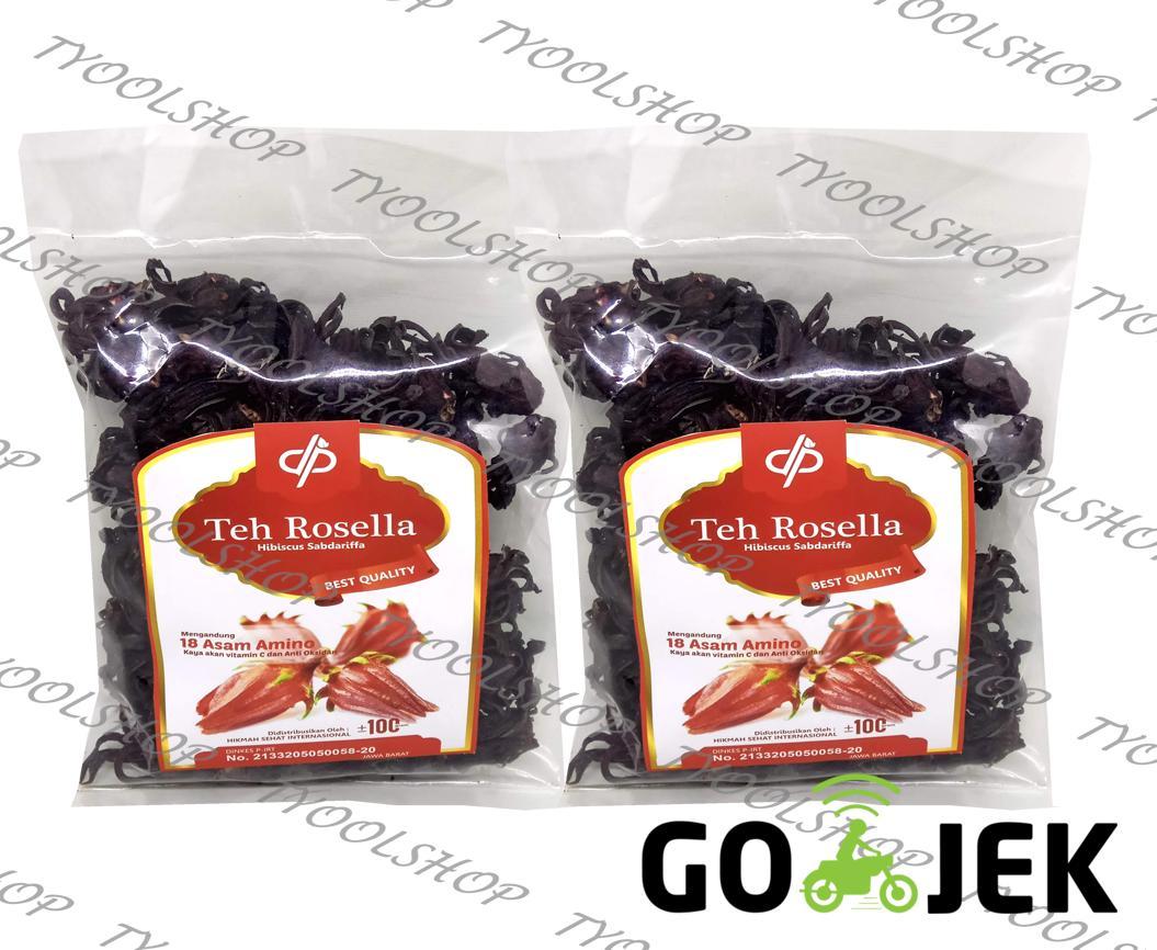 Teh Bunga Rosella Ungu Curah Rosela Ungu-100gram (paket 2pcs)