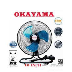 Okayama OK-1030 Kipas Angin Meja dan dinding Tornado 2in1 2 fungsi 10 inci GARANSI