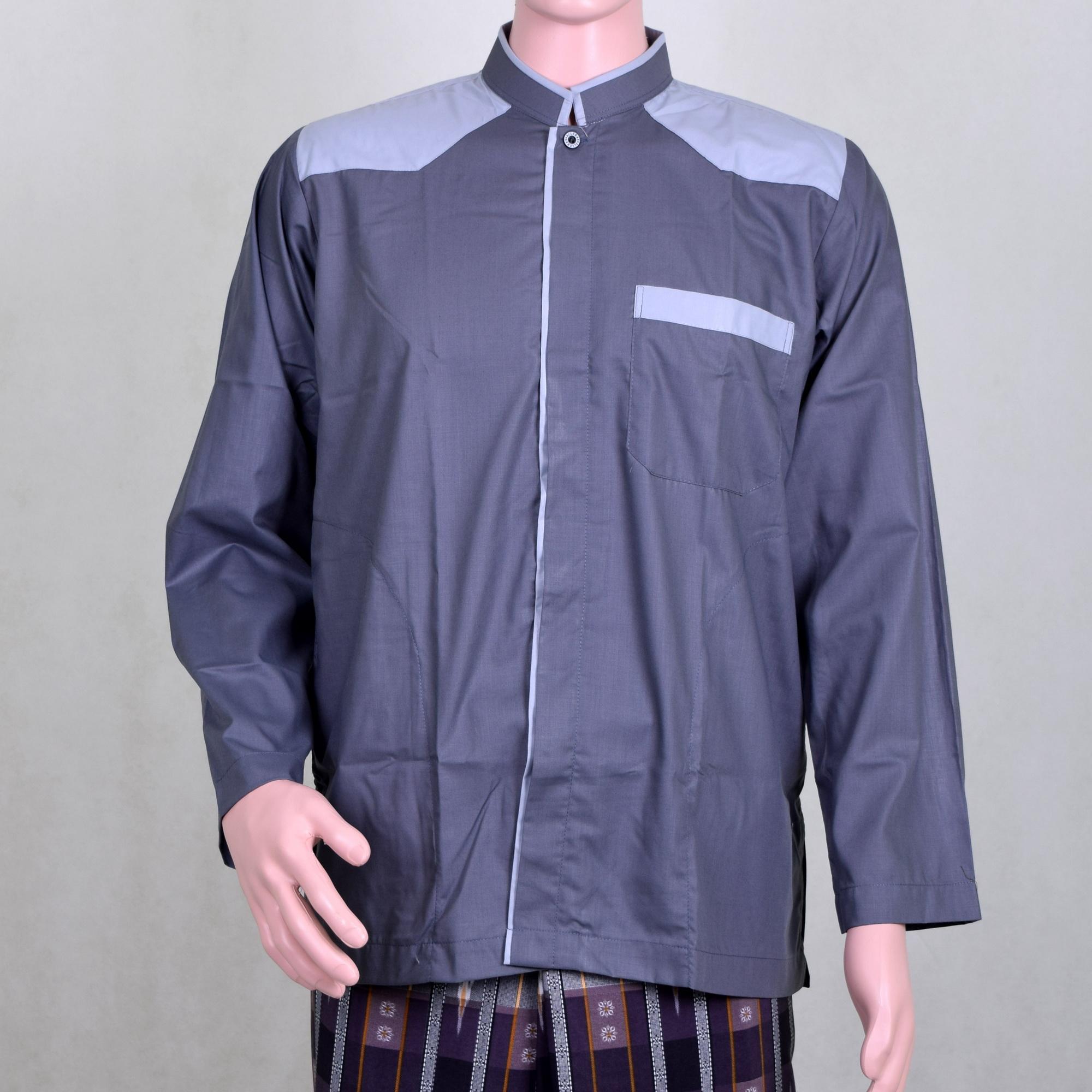 Buy Sell Cheapest Koko Keren Best Quality Product Deals Baju Lengan Panjang Kombinasi Abu2 Tua Pria Abu Murah Berkualitas Dan Berwibawa