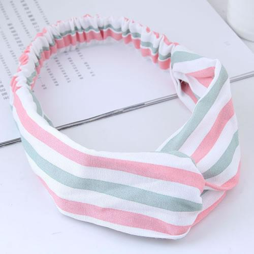 LRC Bando Fashion Stripe Pattern Decorated Hair Band