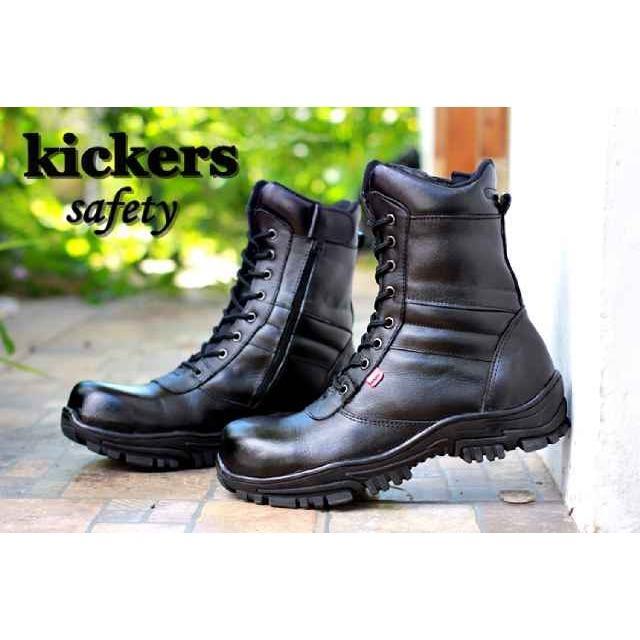 Sepatu Pria Kickers High Boots PDL TNI POLRI Safety