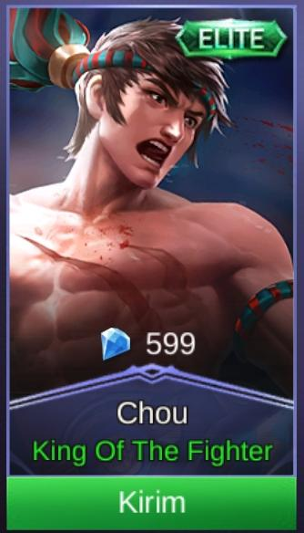 Gift Skin Chou King Of The Fighter Mobile Legend Legal