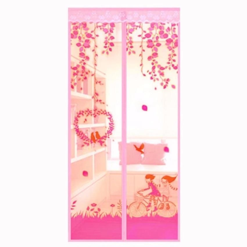 Magic Mesh Tirai Magnet Anti Nyamuk Motif LOVE BIRD- Tirai Pintu Magnet