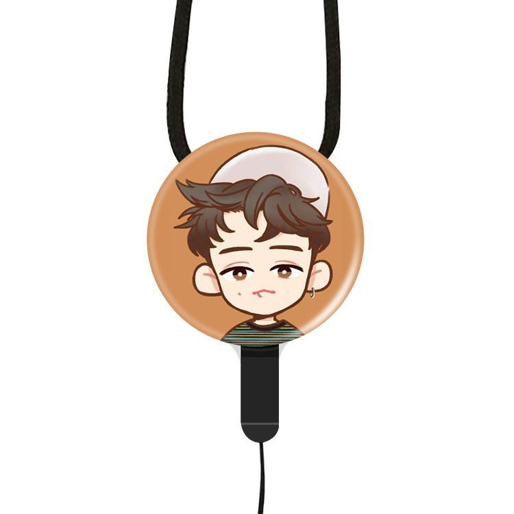 Exo sekeliling Apple ID Xiaomi HUAWEI1 penggunaan umum HP tali gantungan gantung di leher dwiguna dilepas Bisa Lie Bo Yin shi-xun Cetar