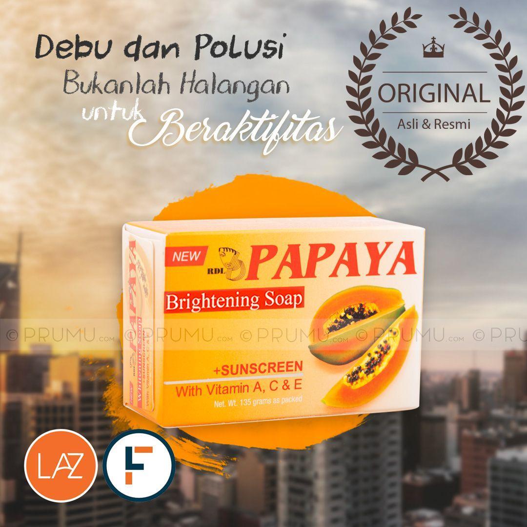 [Original] RDL Papaya Brightening Soap 135 gram - Sabun Pepaya - Papaya Soap - Whitening Soap by LA