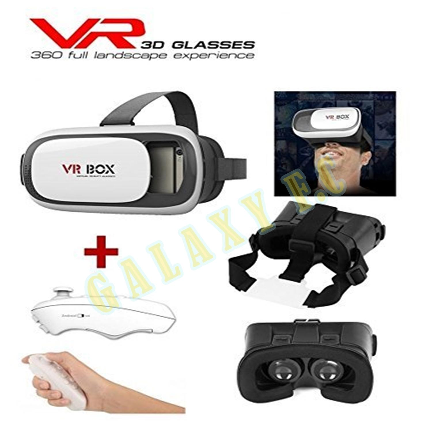 VR Box 2.0 Virtual Reality Smart Glasses Kacamata Virtual Hp 360 For All Handphone Android + Remote Control
