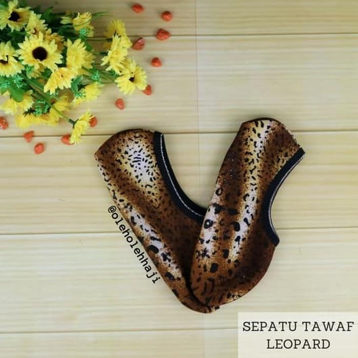 Sepatu Tawaf Towaf Motif Leopard Macan Tutul Perlengkapan Haji & Umroh