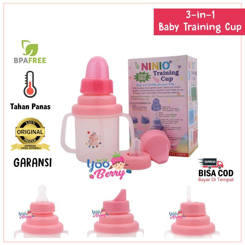 Baby Training Cup Multifungsi 3 In 1 Gelas Minum Bayi Spout Straw Nursing Cup Tahan Panas Yooberry By Yooberry.