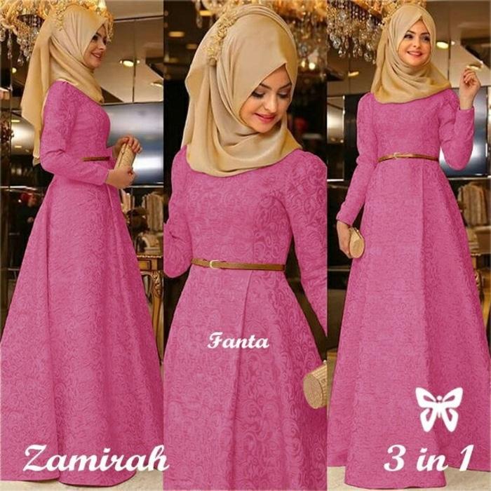 Hijab Maxi Zamirah 3in1 Fanta