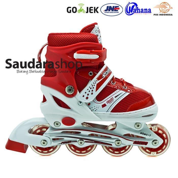 HARGA PROMO!!! sepaturoda / Sepatu Roda Murah / Sepaturoda POWER SUPER jait MERAH - KAh5z7
