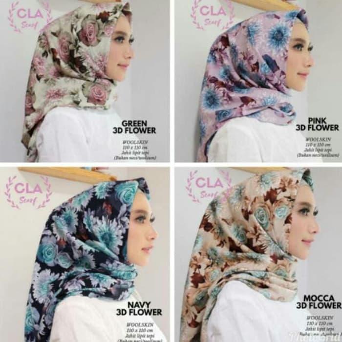 JIlbab Hijab 3D MOTIF SQUARE MAXMARA