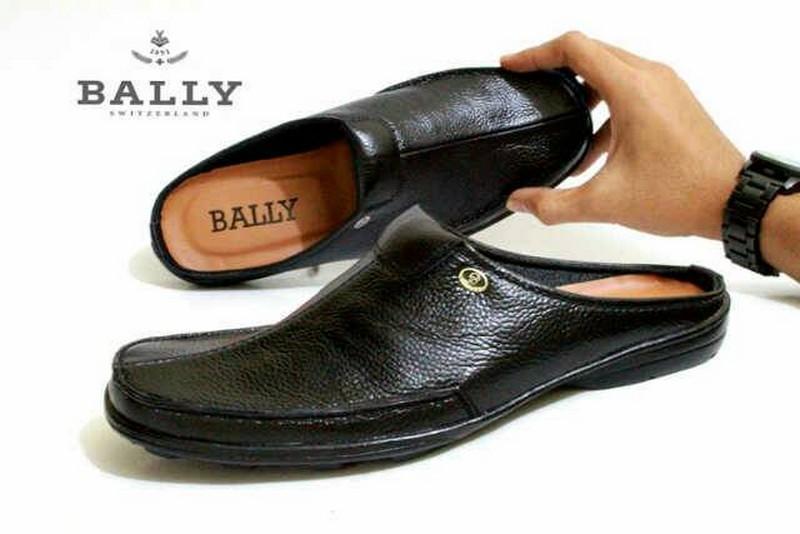 Sepatu Sandal Pria Kulit Asli Bally 001GUM Sendal Slop Bustong Slip On Tutong
