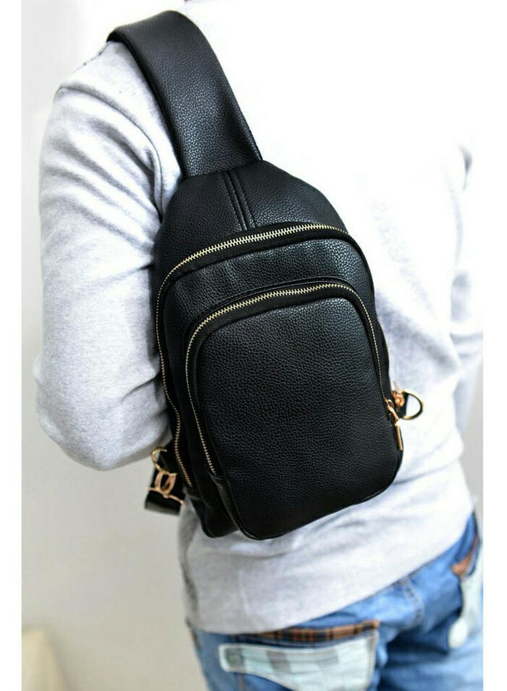 tas sling bag pria - tas selempang kulit - tas kuliah kampus punggung dada - tas import - tas murah - tas terbaru - tas kekinian - tas cewek batam di lapak pelangi_bag bagusia08