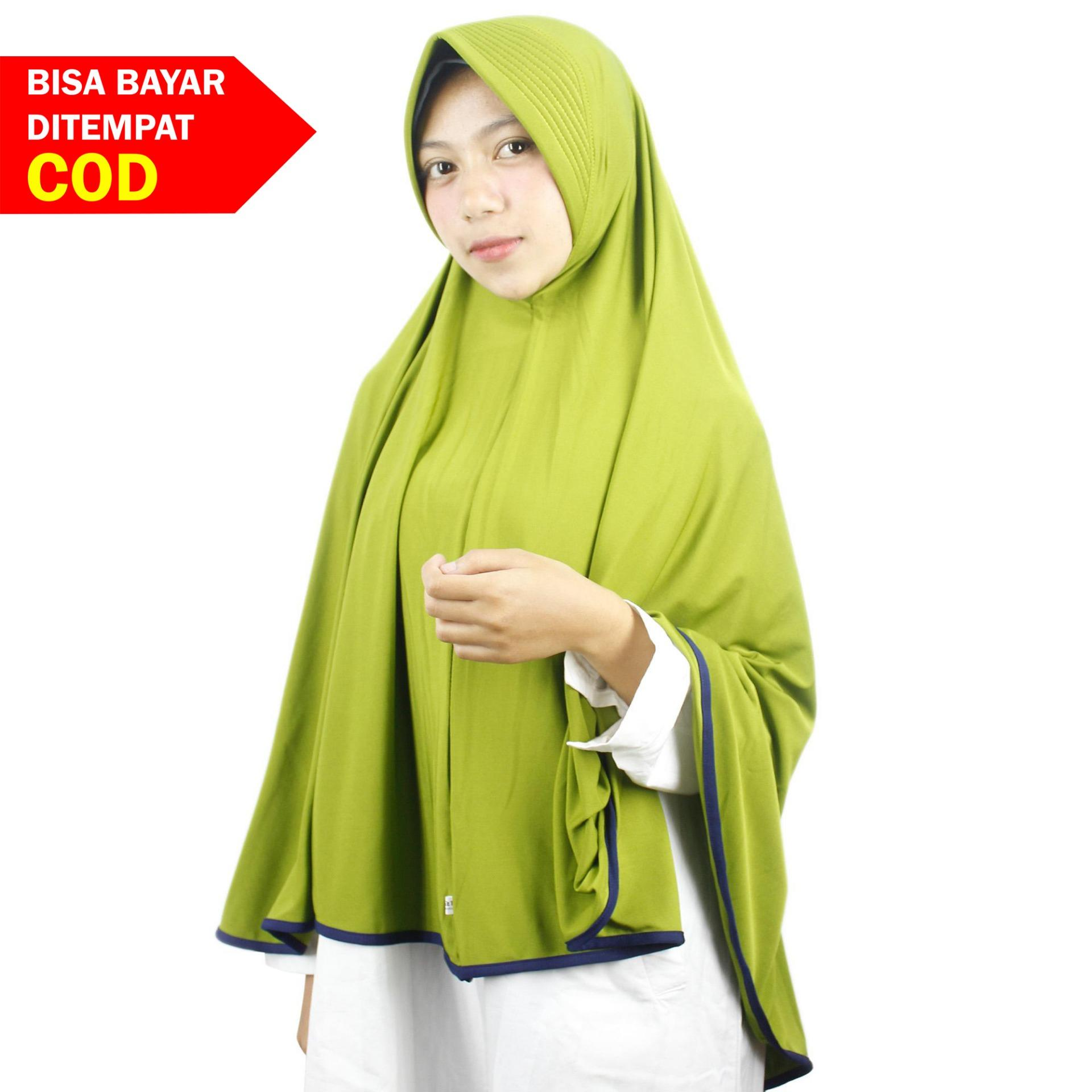 Buy Sell Cheapest Khimar Afnie Original Best Quality Product Deals Hijab Jilbab Syari Kerudung Panjang Ainun Instan Pet