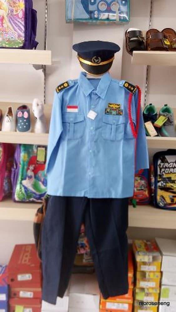 Promo: Kostum Karnaval Polisi Tentara Tni Au Setelan Celana Pj Limited - ready stock
