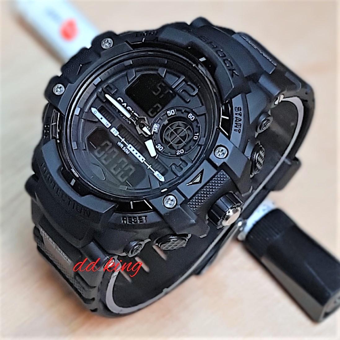 Jual Jam Tangan Casio Original G Shock Dobel Time Tahan Air Black Pria Sport Fashion Dual 2373