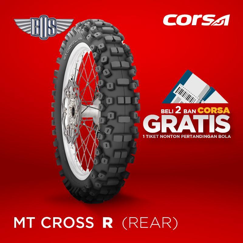 Ban Motor corsa MT Cross-R (REAR) -80/100- 21 -TUBE TYPE- GRATIS JASA PASANG