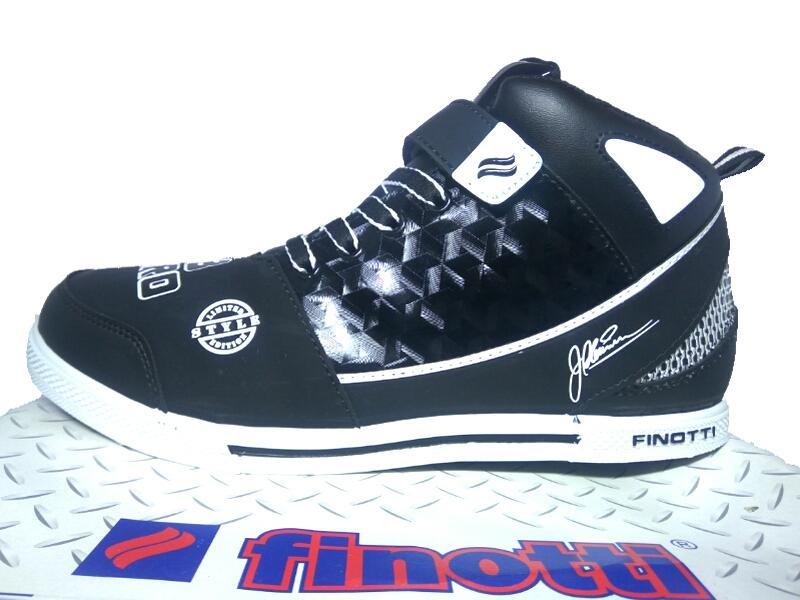Finotti J.Bieber Zero Black White - Sepatu Sneaker - Sepatu Sekolah - Sepatu Pria