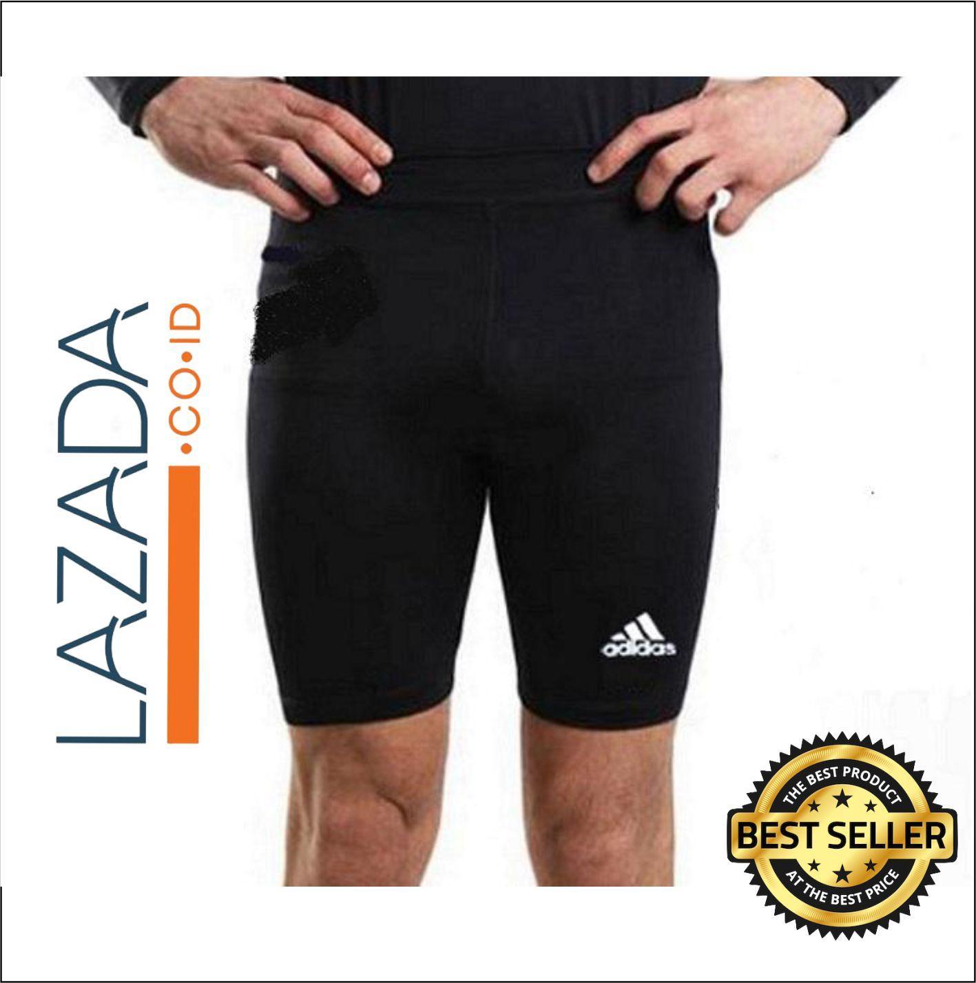 Manset Olahraga Pria Terbaik Baselayer Jari Longsleeve Thumbhole Adidas Dan Nike Celana Gym Fitness Renang Sepeda Futsal