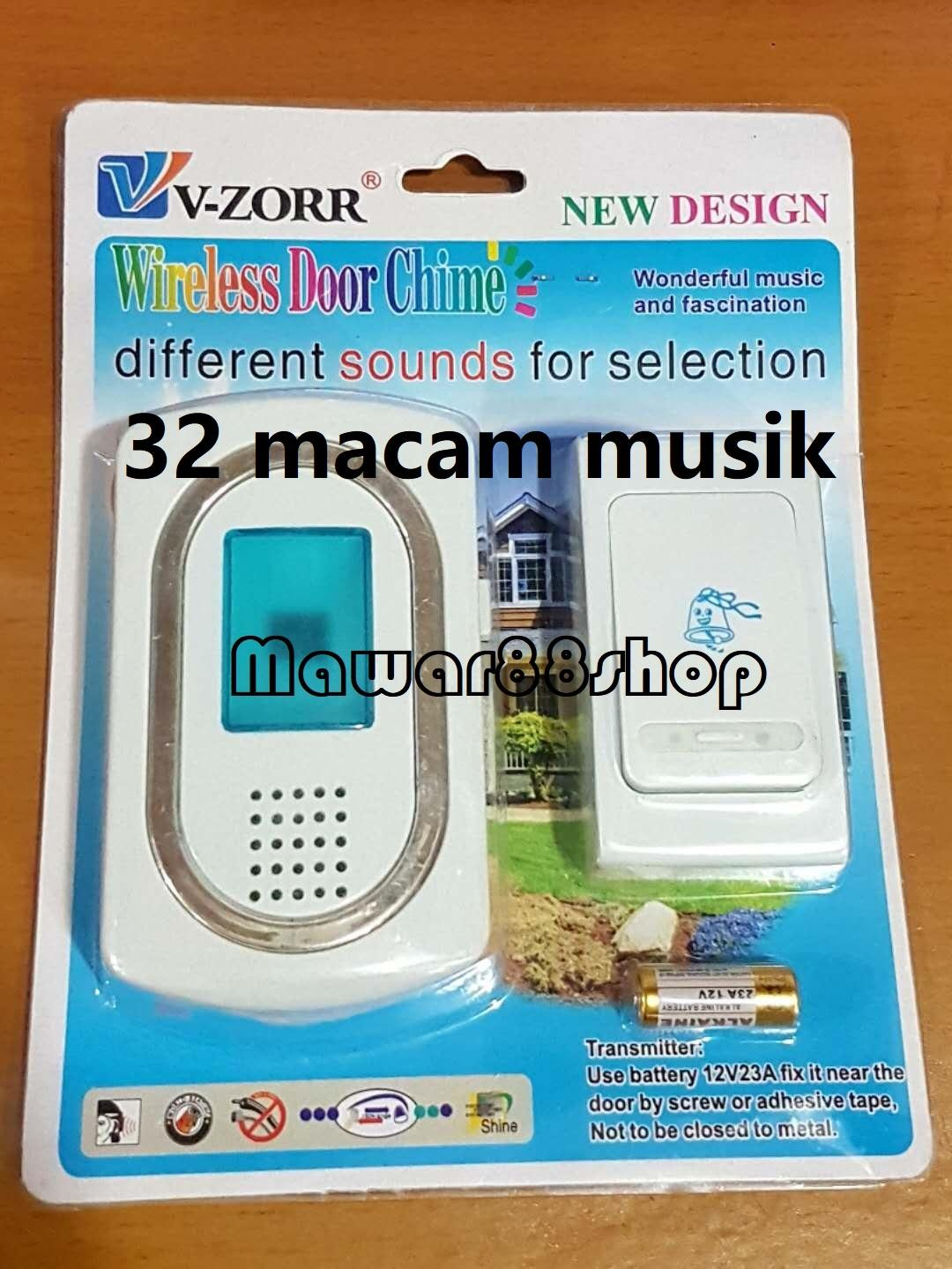 Bel Pintu Wireless V-ZORR - Putih/mawar88shop