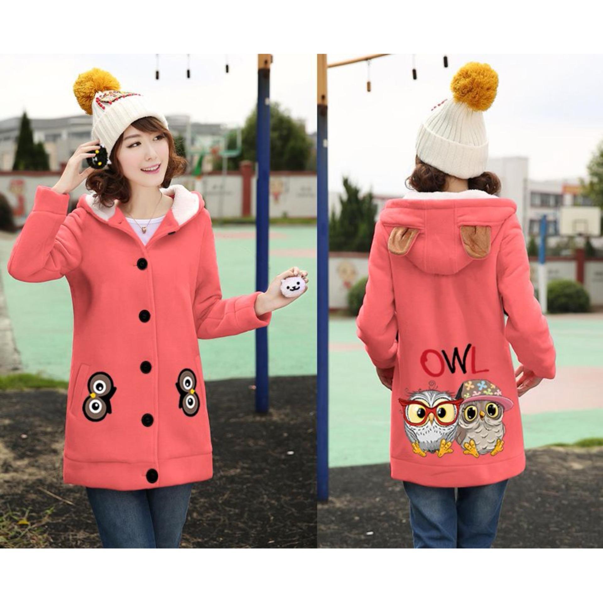 Vrichel Collection Jaket / Coat / Blazer / Hoodie / Jaket Hoodie Wanita OWL Dewasa