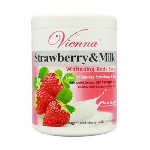 Vienna Body Scrub Strawberry - 1kg By Beauty Lover.