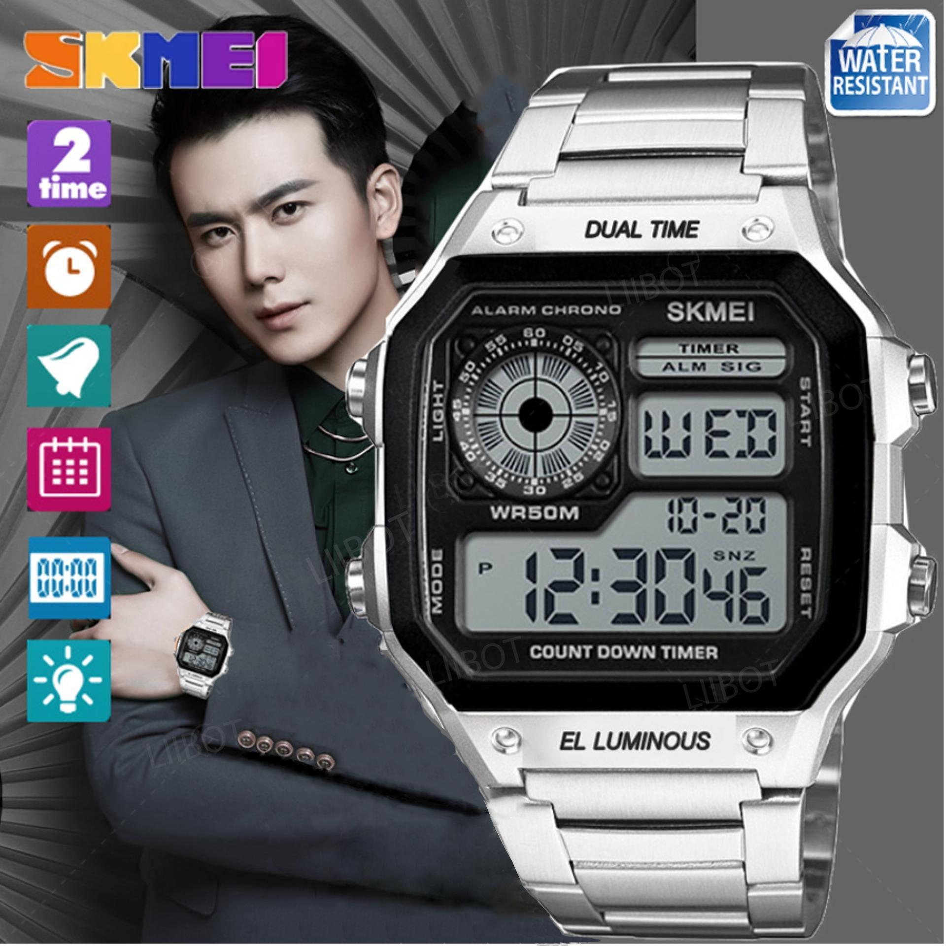 Buy Sell Cheapest Skmei 1335 Pria Best Quality Product Deals Jam Tangan Sport Wanita Dual Time Wateresistant 50m Digital Original Silver