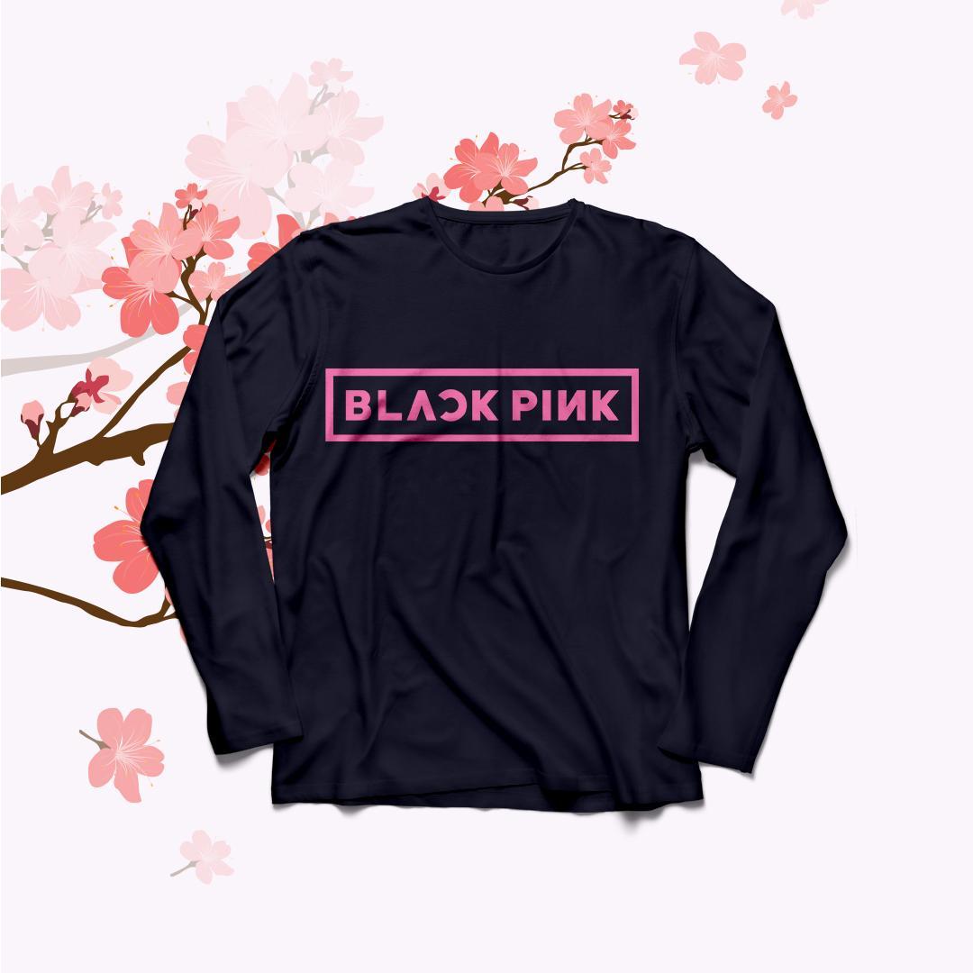 YGTSHIRT - Baju Kaos T-shirt BLACKPINK Big Size Ukuran XL Tumblr Tee Lengan Panjang