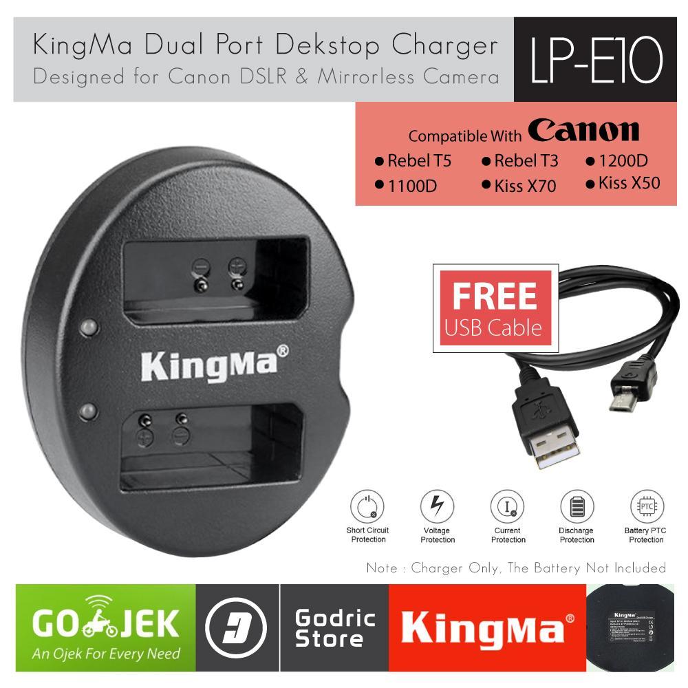KingMa Charger LP-E10 for Canon 1100D 1200D 1300D 1500D 3000D etc