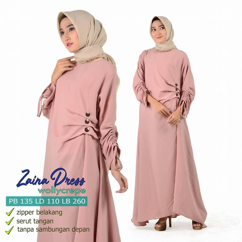 zaina dress / busana muslimah / gamis terbaru