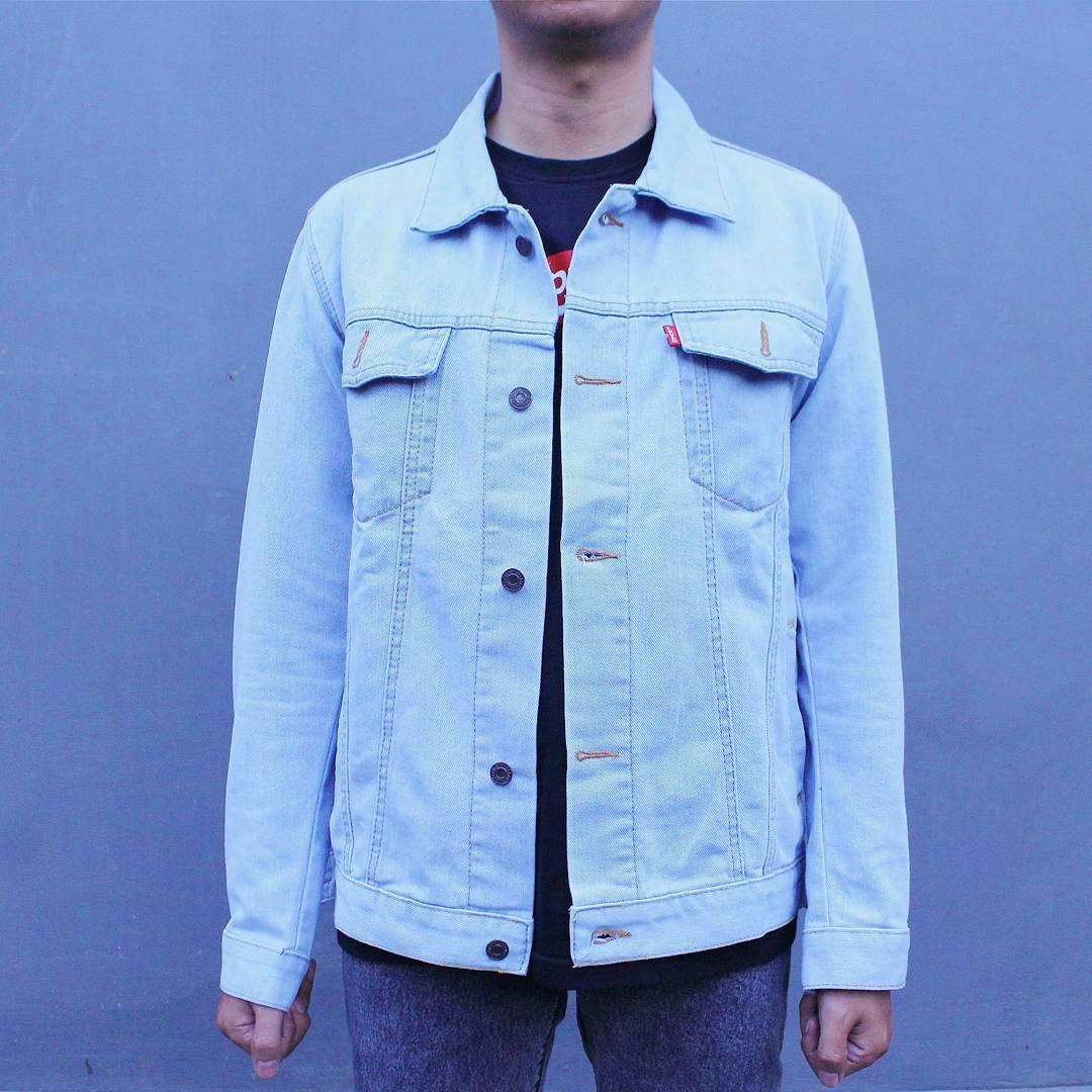 Denim Brand Jaket Jeans Pria Biru Muda Wash Cod Bohel New Birumuda Bioblitz Light