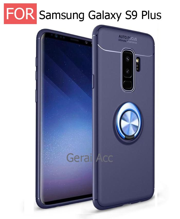 Gerai Acc Samsung Galaxy S9+ Premium Socket Case BackCover Anti ShockProof 360 Rotation - Navy