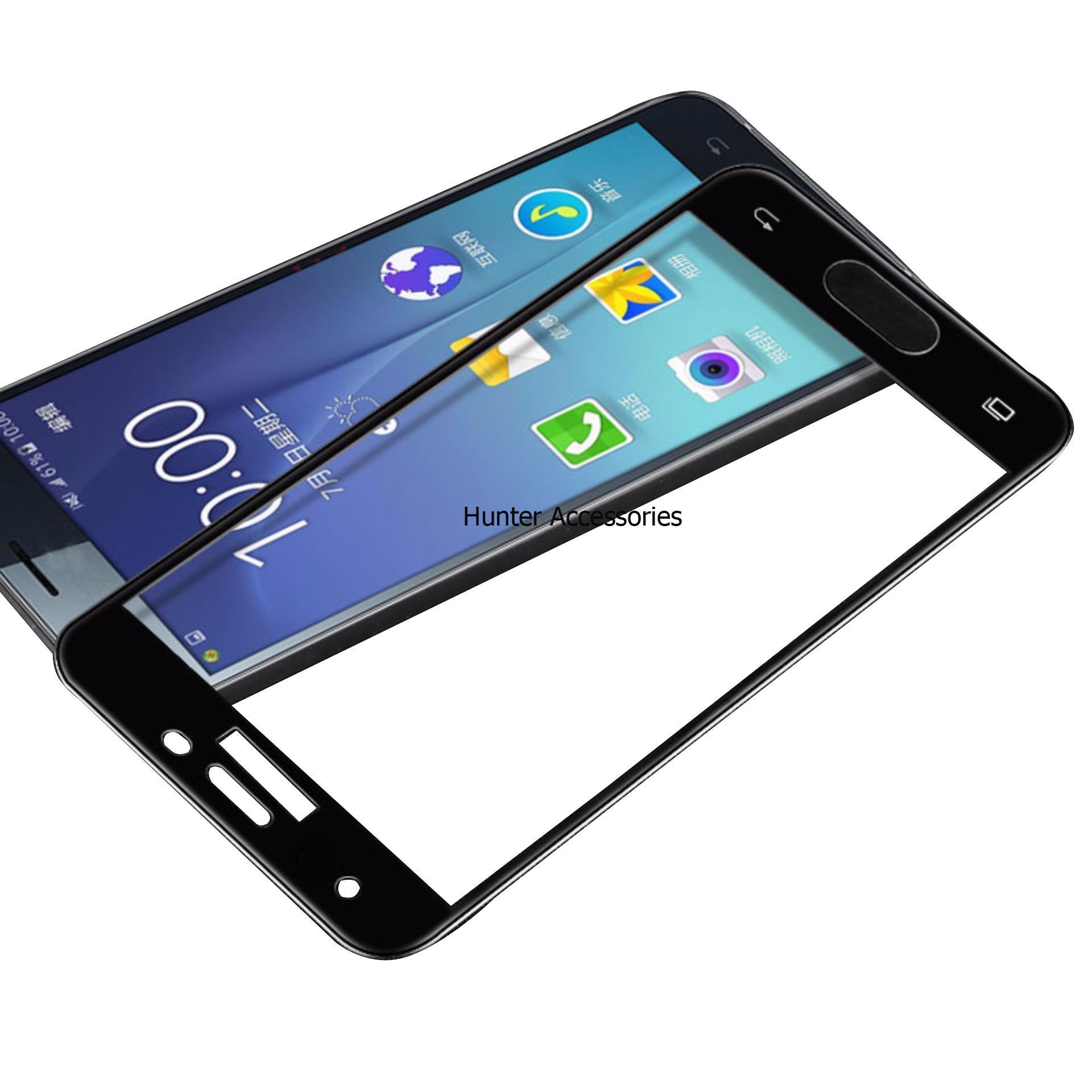 Tempered Glass Screen Protector / Anti Gores Kaca Samsung Galaxy J7 Prime - Hitam