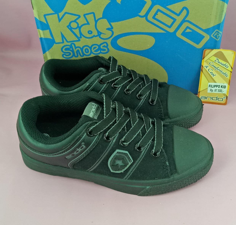 HARGA-PROMO-Sepatu sneakers anak Ando filippo hitam 30-33