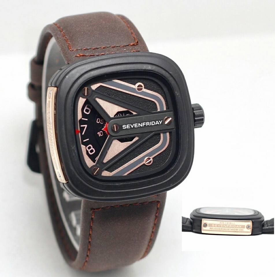 jam tangan sevenfriday pria-jam tangan pria tali kulit-lengkap dengan box-765