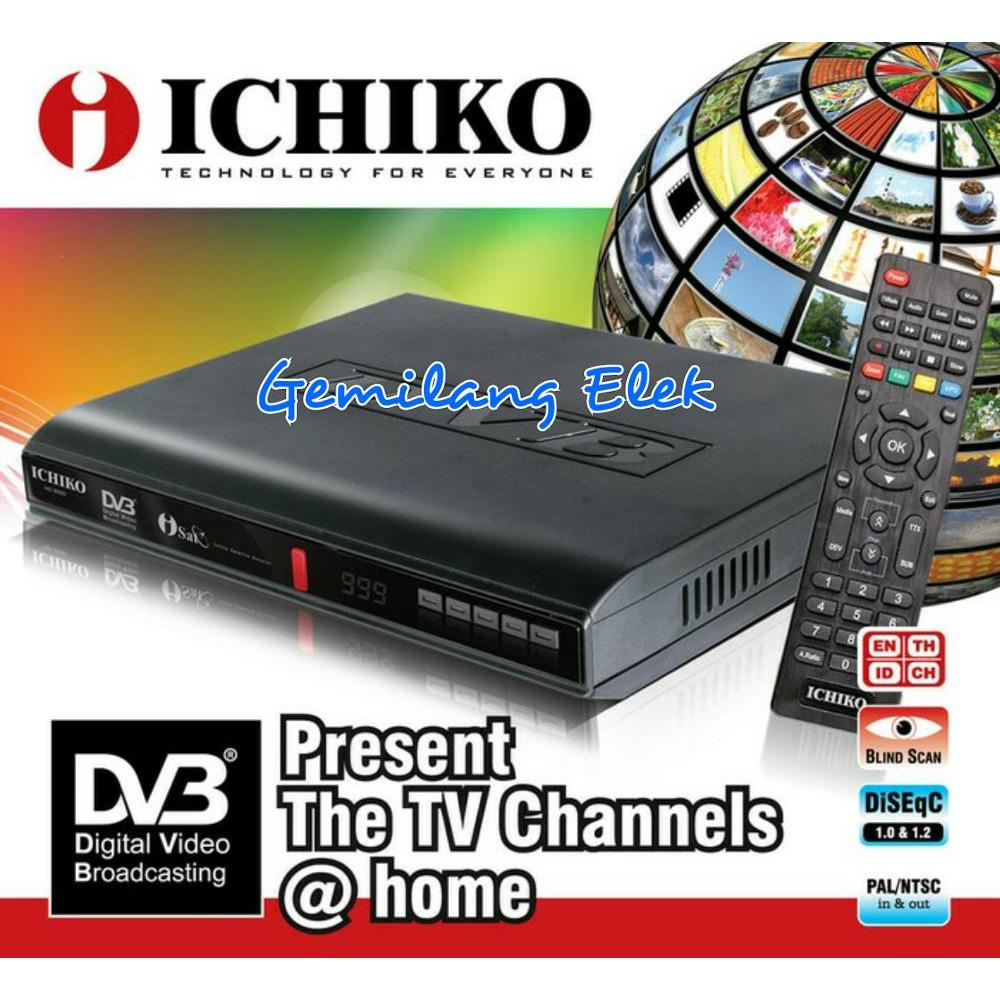SET TOP BOX ICHIKO DVB-8000 DVB-T2 alat penerima siaran TV analog jadi Digital