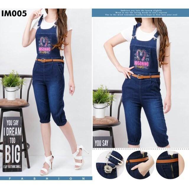 Celana Kodok Jogger Selutut 3 Per 4 Jeans Anak Abg Dewasa With Inner - Pebnxo