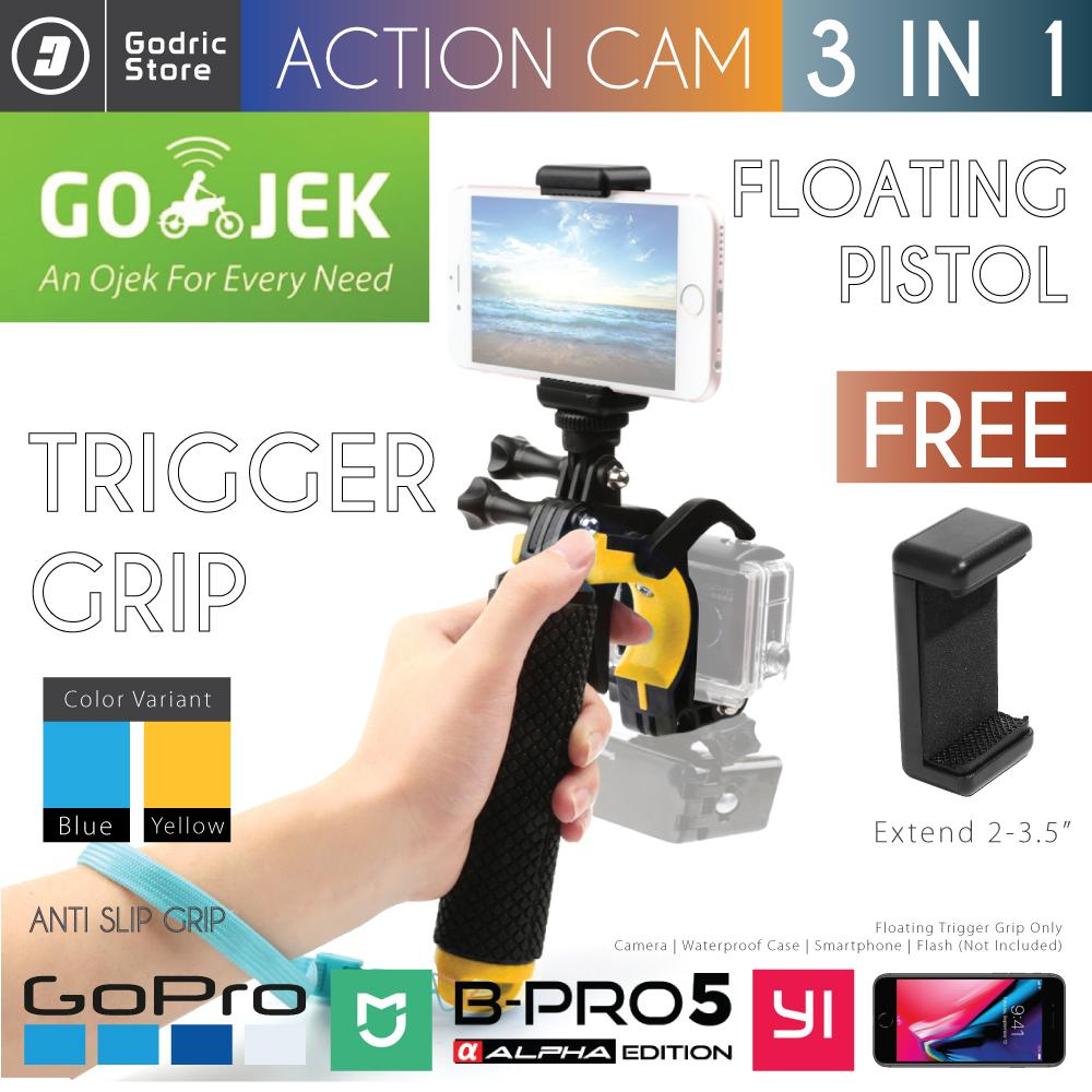 Godric Pistol Trigger Gun Floating Bobber Stabilizer Set 3in1 for Action Camera Xiaomi Yi GoPro BRICA