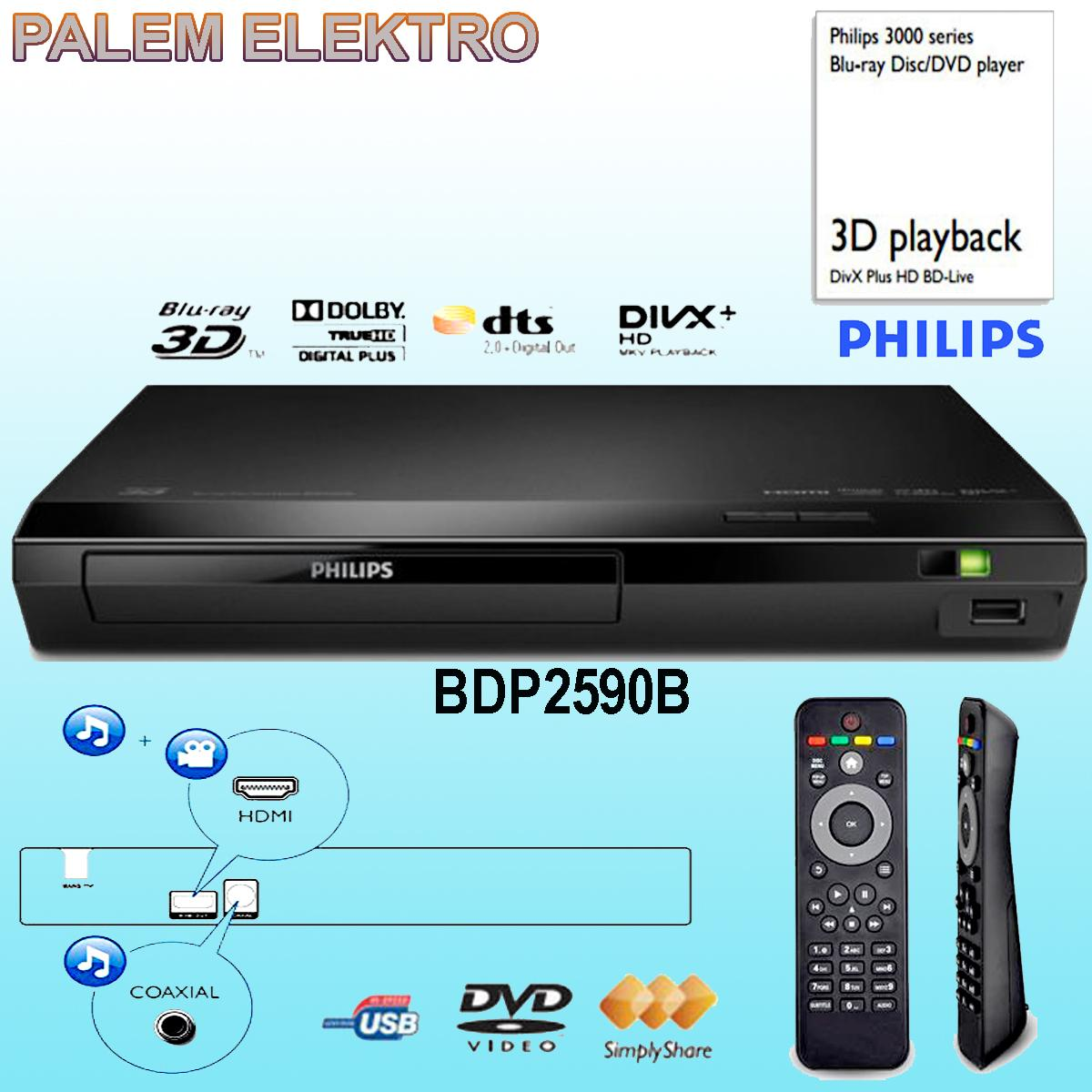 Philips BDP2590B DVD and Blu-Ray Player