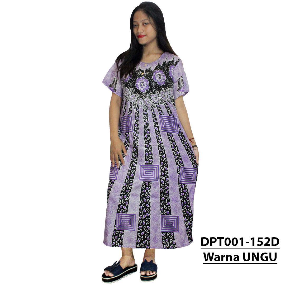 Daster Batik, Daster Lengan Pendek, Baju Tidur, Piyama, Kancing, Daster Bumil, Daster Busui (DPT001-152) Batikalhadi Online