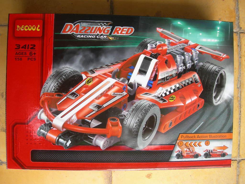 Gansatoy lego decool 3412 dazzling red racing car gnz 310