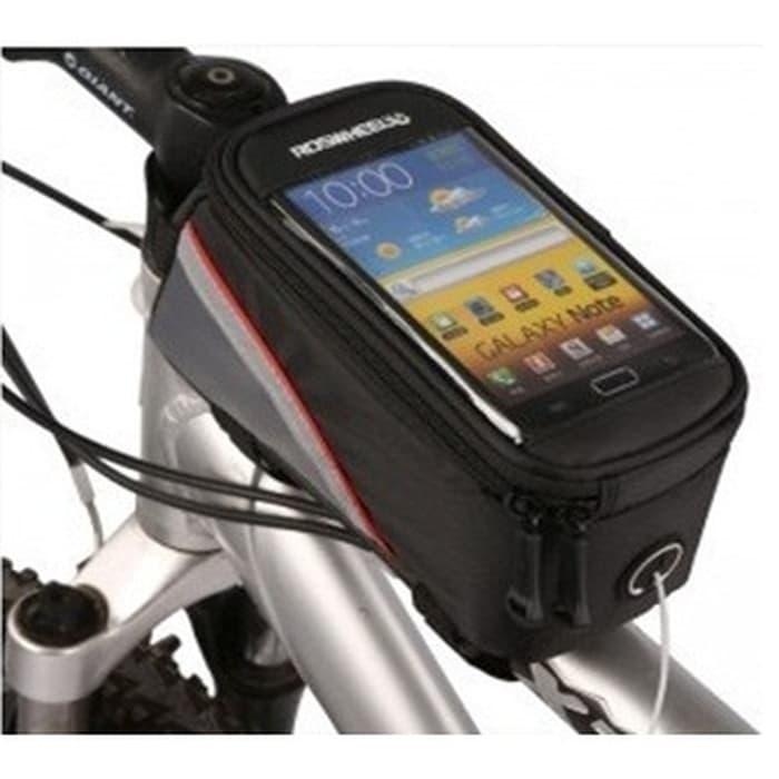 BEST SELLER!!! Roswheel Bike Waterproof Bag for 5.5 inch Smartphone - Black - B6UoMe
