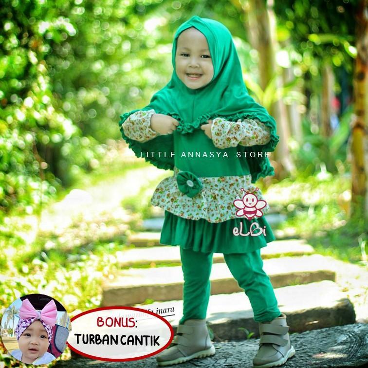 Baju Muslim Anak Perempuan / Baju Muslim Bayi Perempuan / Baju Muslim Balita / Gamis Anak / Setelan
