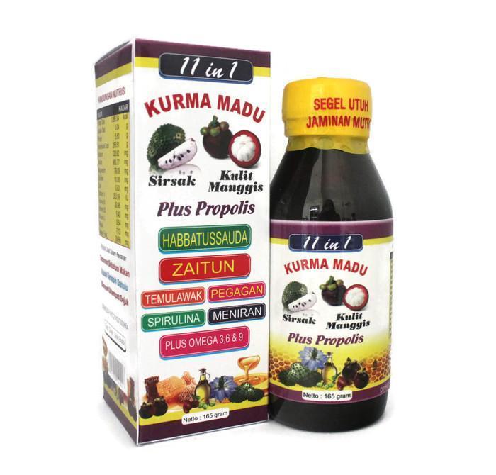 Jual Kurma Madu 11 In 1 Plus Propolis Omega 3 6 Dan 9 165 Gr Harga